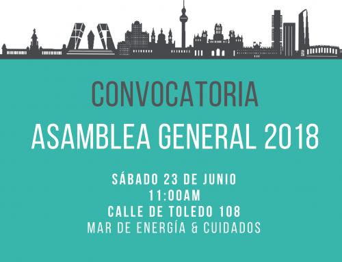 Convocatoria de Asamblea Ordinaria 2018 de La Corriente Sociedad Cooperativa
