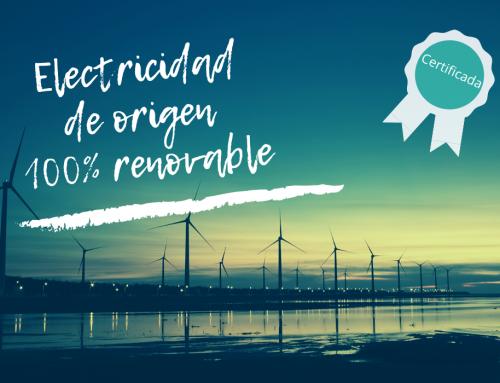 ¡Electricidad de origen 100% renovable!