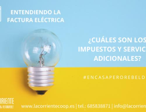 Entendiendo la factura eléctrica, ¿cuáles son los impuestos y servicios adicionales?